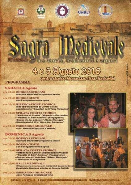 VI edizione della Sagra Medievale, questa sera nel borgo antico di Monacizzo a Torricella