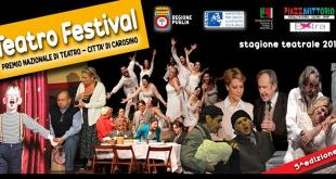 TEATRO FESTIVAL - Carosino riparte con il Teatro di qualità di Davide Roselli