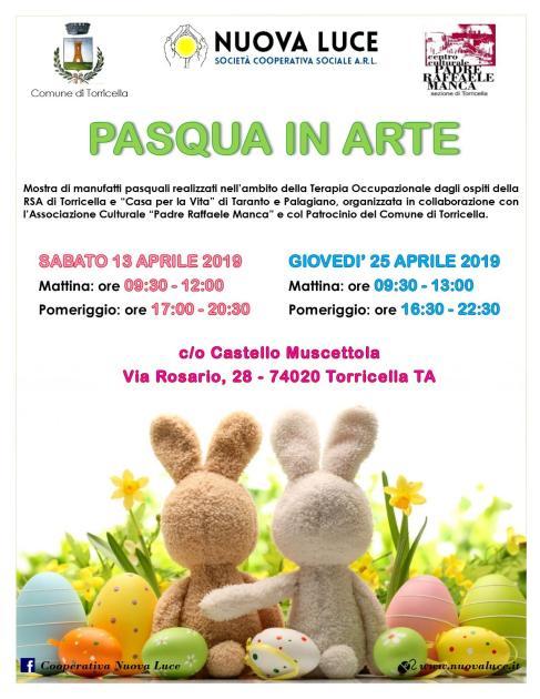 """Sabato 13 aprile a Torricella mostra manufatti: """"Pasqua in Arte"""""""