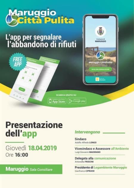 Maruggio città pulita, giovedì la presentazione dell'App per segnalare l'abbandono dei rifiuti