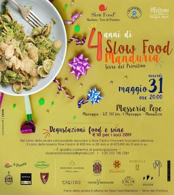 4 anni di Slow Food Manduria Terre del Primitivo