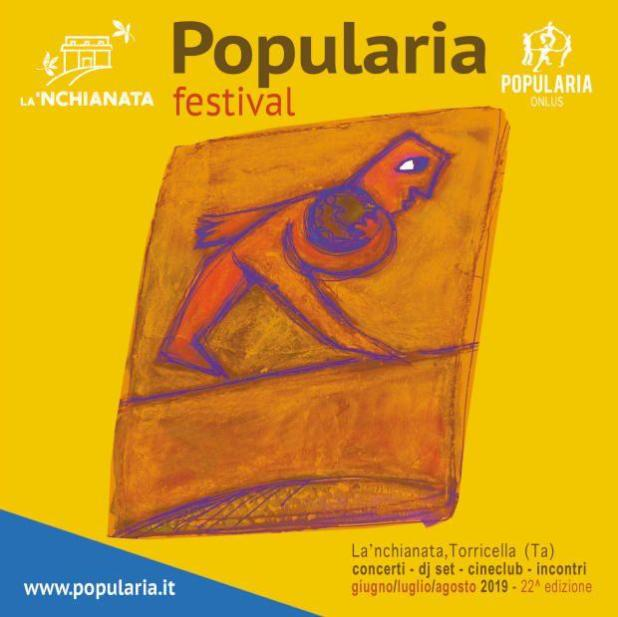 Popularia Festival 2019. Si comincia questa sera sabato 29 giugno e poi tanti appuntamenti sino a fine agosto con concerti, cinema, dj set e artisti di strada