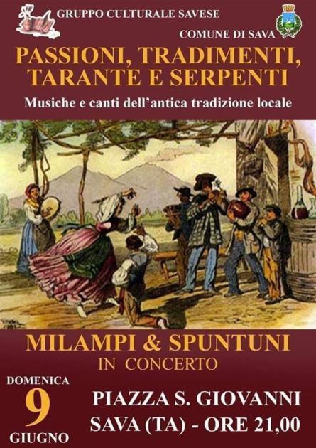 MILAMPI & SPUNTUNI IN CONCERTO -PASSIONI, TRADIMENTI, TARANTE E SERPENTI, Musiche e Canti dell' antica tradizione locale