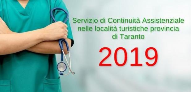 Parte il Servizio di Continuità Assistenziale nelle località turistiche della provincia di Taranto
