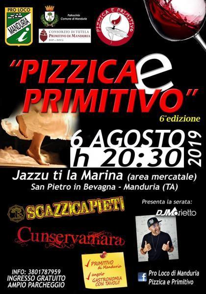 Manduria il 6 agosto la sesta edizione di Pizzica e Primitivo