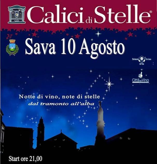 """A Sava questa sera start di  """"Calici di Stelle"""". notte di vino, note di stelle."""