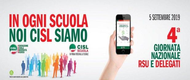 CISL Scuola: il 5 settembre IV edizione della Giornata nazionale RSU e delegati