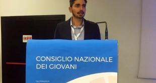 Il giovane maruggese Enrico Pulieri, eletto nel Board del Consiglio Nazionale dei Giovani