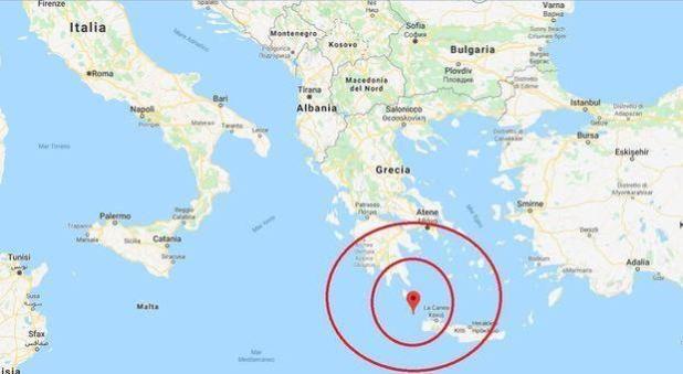 Scossa di terremoto a Creta, magnitudo 6.0. Avvertita anche in Puglia nel basso Salento