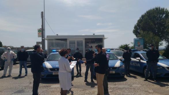 Una donazione speciale stamane per il Moscati: donazione del Reparto Volanti della Polizia di Stato della Questura di Taranto