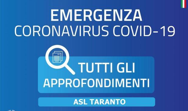 """Taranto, 20 aprile 2020 – Aggiornamento pazienti Covid e post Covid ricoverati. Esecuzione di tamponi per il personale dell'ospedale """"San Pio"""" di Castellaneta"""