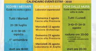 Diffuso il calendario eventi estivi al Parco archeologico di Manduria.