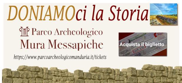 """""""DONIAMOci La Storia"""" è una iniziativa del Parco archeologico di Manduria."""