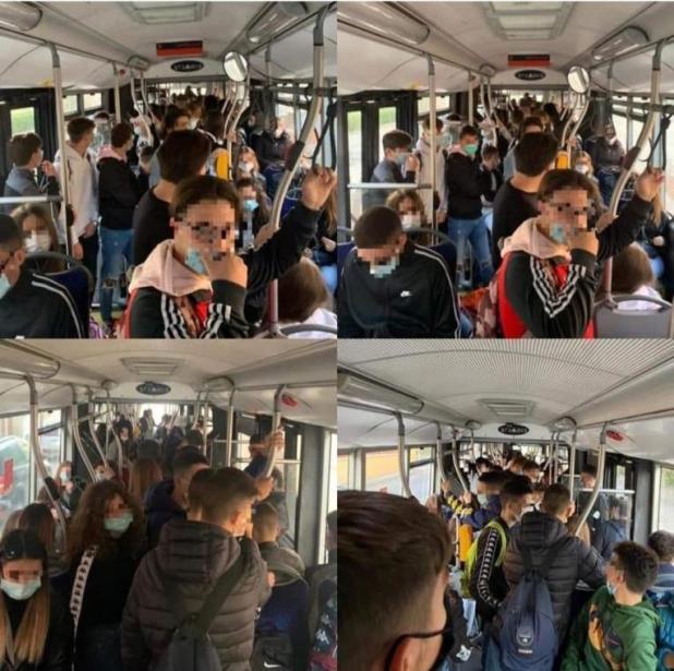 Autobus e mezzi strapieni a rischio Covid, gli studenti in sciopero