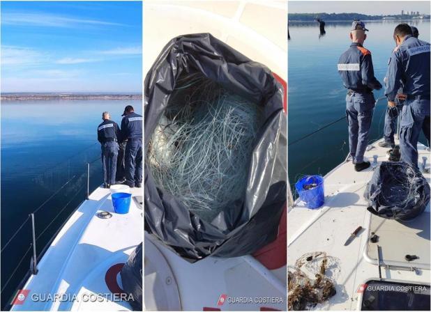 Maxi operazione della Guardia Costiera di Taranto a tutela dell'ambiente e dell'ecosistema marino nella giornata di ieri