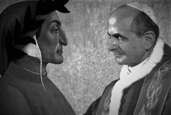 La modernità di Dante a 700 anni dalla morte tra Benedetto XV e Paolo VI.