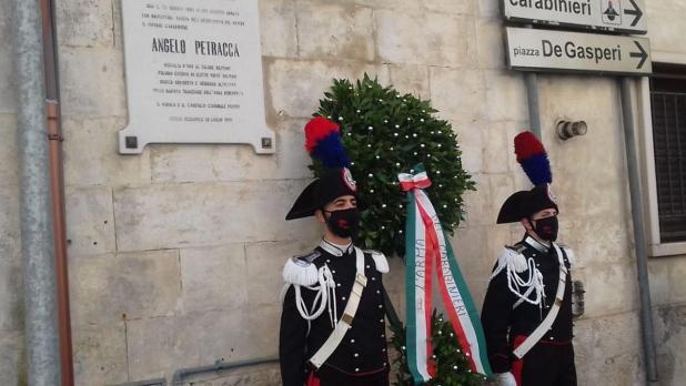 Ceglie Messapica: commemorato il carabiniere ventenne, ANGELO PETRACCA  venne ucciso 30 anni fa in una rapina in banca