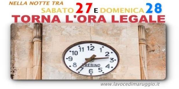 Domenica 28 marzo torna l'ora legale, spostremo le lancette in avanti di un'ora