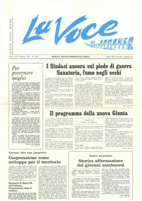 ANTEPRIMA N.260 Marzo 1987