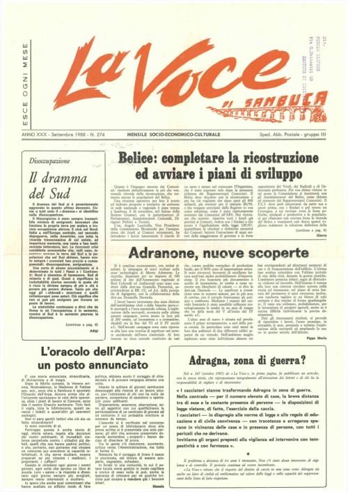 ANTEPRIMA N.274 Settembre 1988