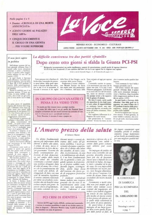 ANTEPRIMA N.292 Agosto Settembre  1990