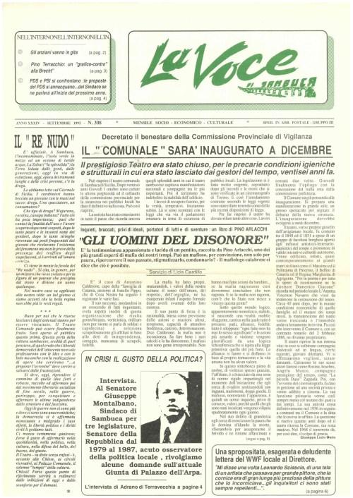 ANTEPRIMA N.308 Settembre 1992