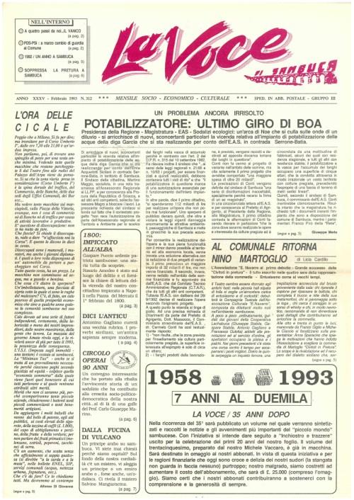 ANTEPRIMA N.312 Febbraio 1993