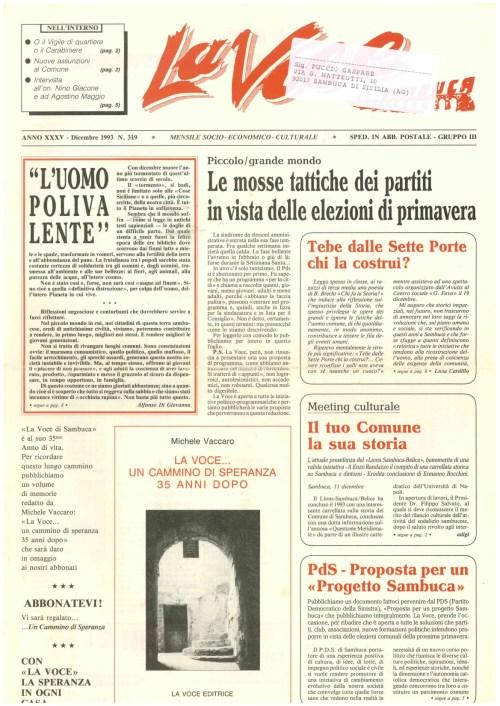 ANTEPRIMA N.319 Dicembre 1993