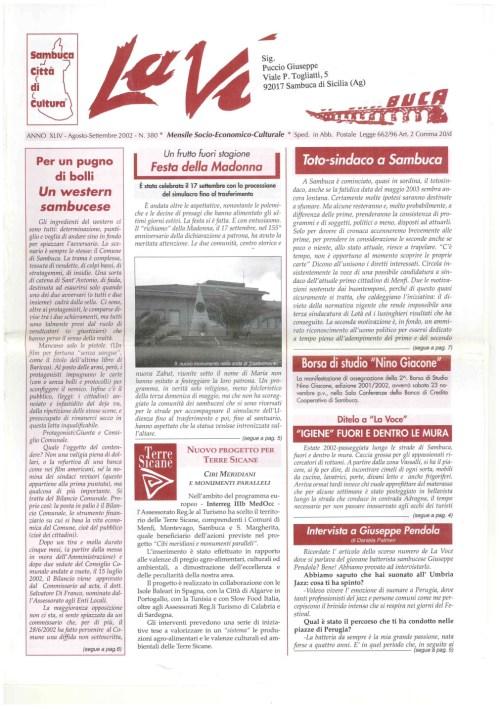 ANTEPRIMA N.380 Agosto Settembre 2002