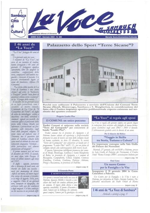 ANTEPRIMA N.389 Gennaio 2004