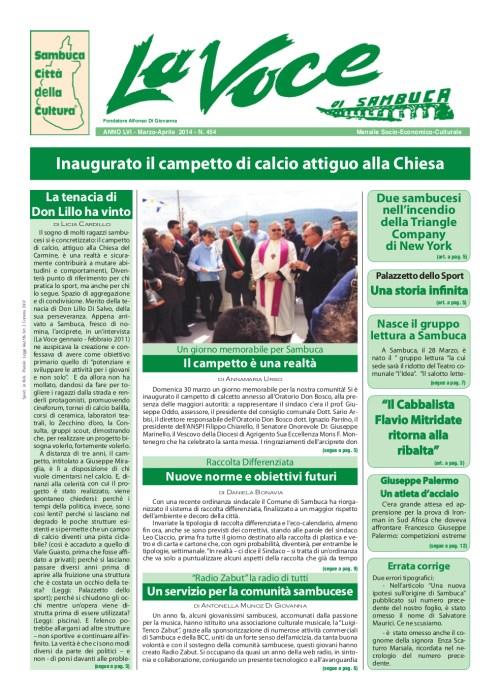 ANTEPRIMA N.454 Marzo Aprile 2014
