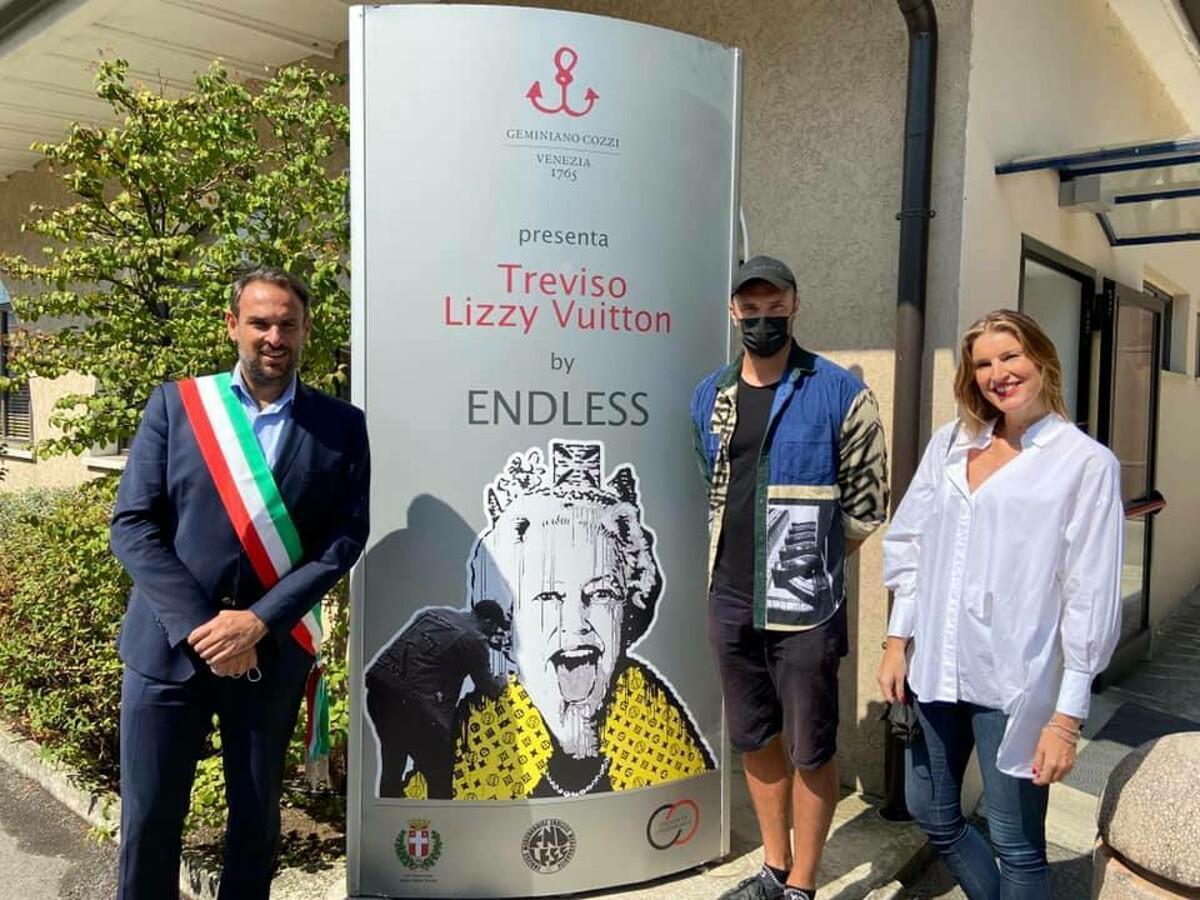 Lizzy Vuitton, inaugurato a Treviso il maxi murale di Endelss