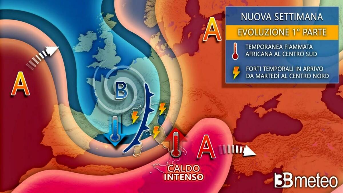 Maltempo in arrivo la prossima settimana: «Temperature in calo di 8-10 gradi»