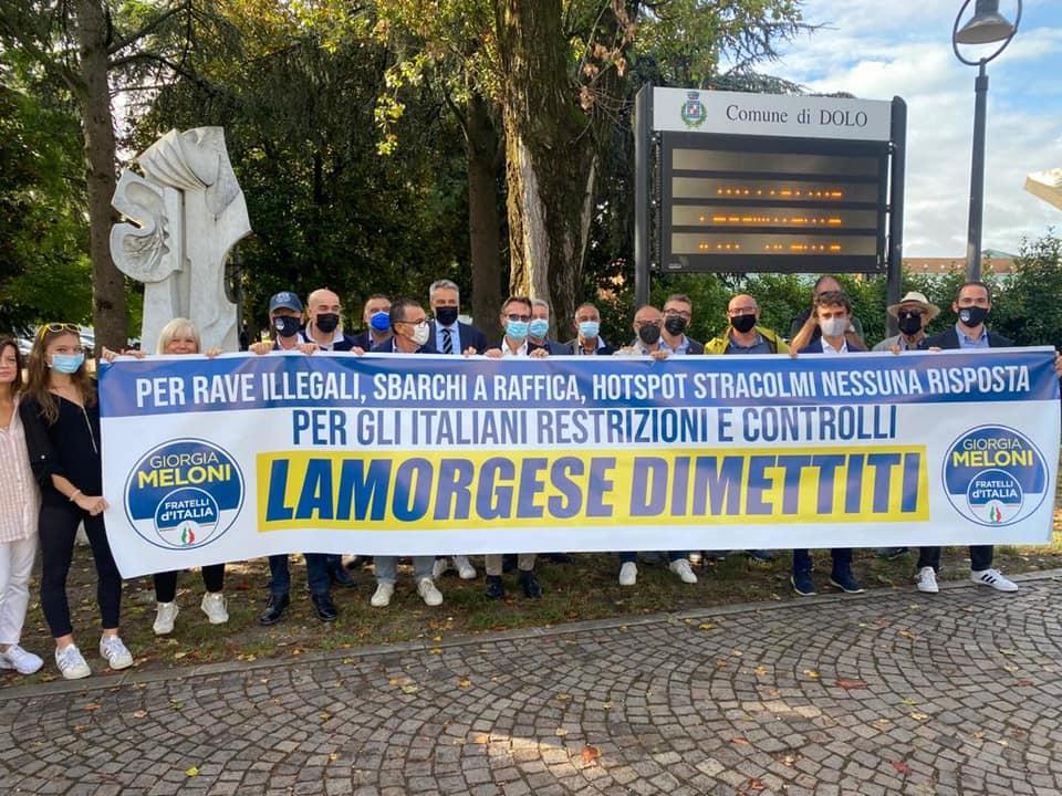 FdI in Veneto contro il Ministro Lamorgese.