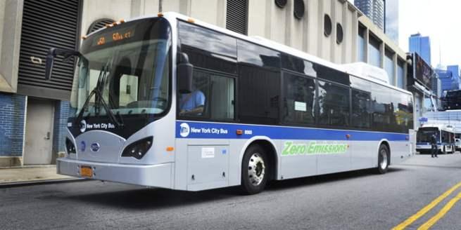 NY BYD e-bus