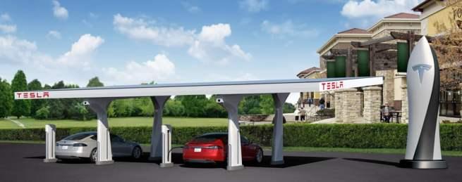 Tesla-Superchargeurs
