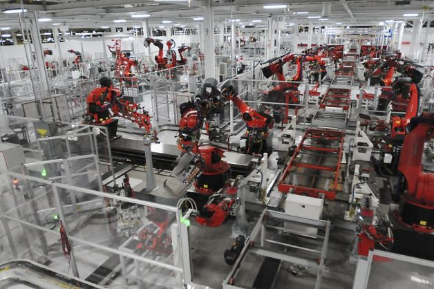 L'usine Tesla de Fremont, Californie