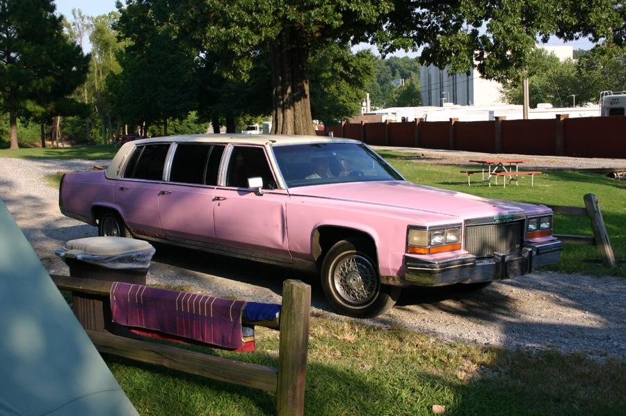 Marlowe's pink cadillac