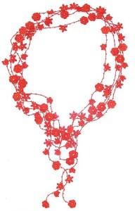 Sautoir Chrystal rouge