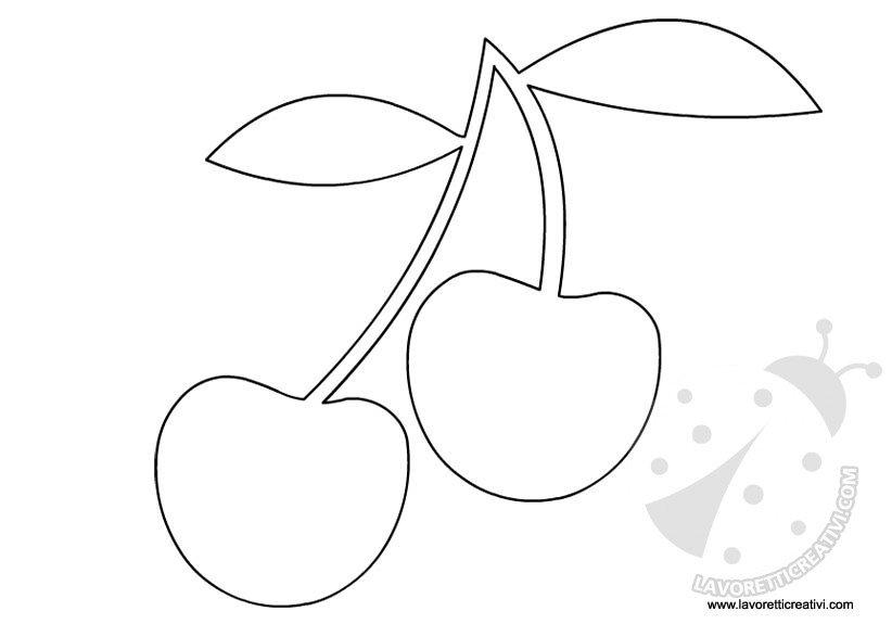 Sagome frutta da ritagliare for Disegni da colorare ciliegie