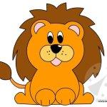 Leone – Sagome da ritagliare