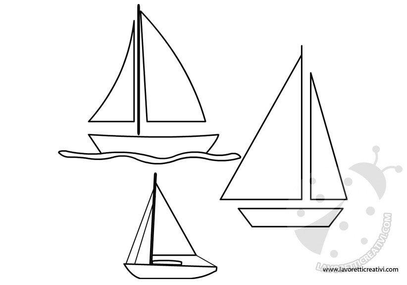 Barche a vela sagome for Disegni da stampare colorare e ritagliare