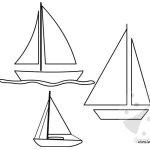 Barche a vela – Sagome