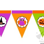 Decorazioni per Halloween – Bandierine di carta