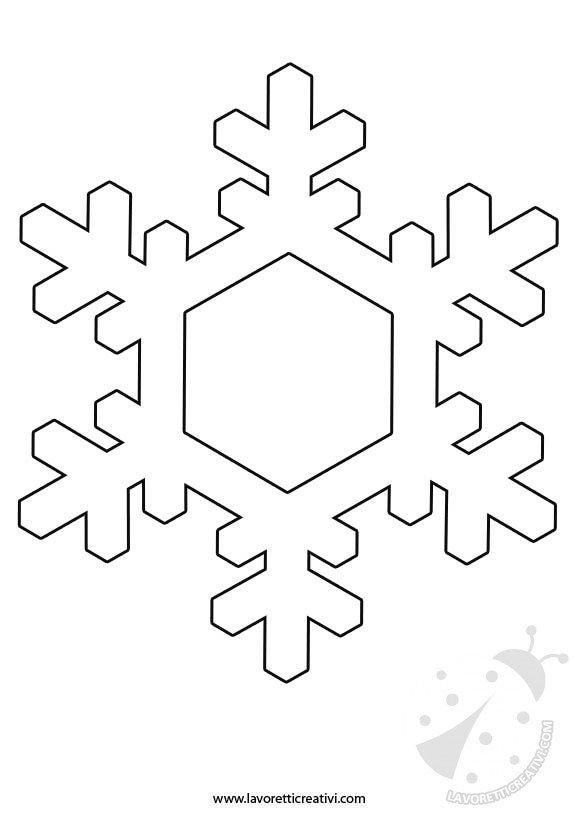 Sagome fiocchi di neve per decorazioni - Fiocco di neve da colorare foglio da colorare ...