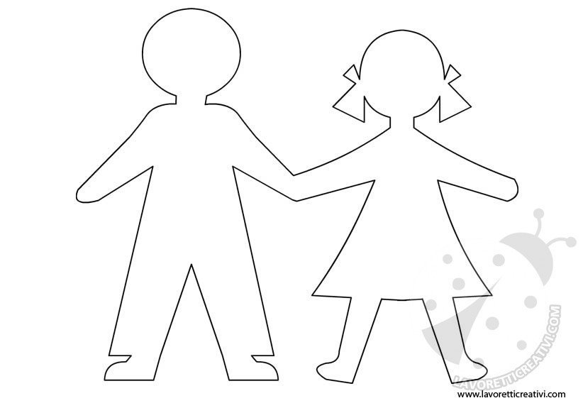sagome di bambini da ritagliare