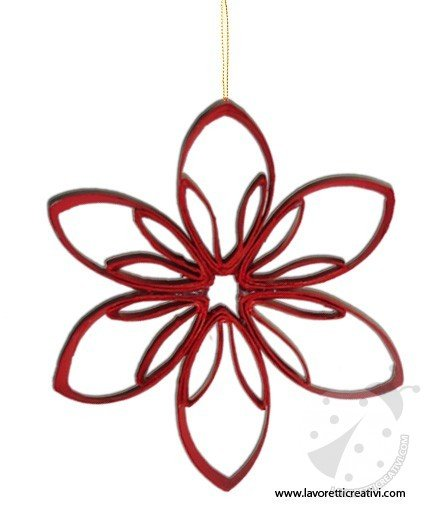 Decorazioni natale come realizzare una stella - Decorazioni di carta per albero di natale ...