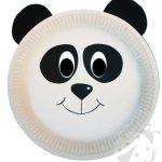 Maschere Carnevale con piatti di carta – Panda