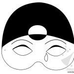 Maschera da Pierrot da stampare e colorare