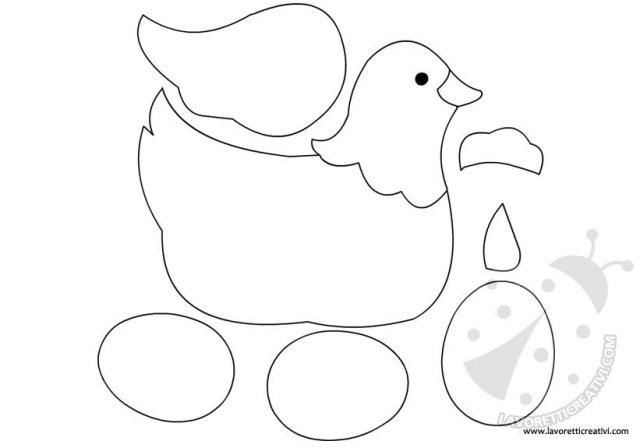 Gallina con uova